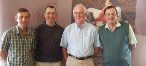 (The winning team - L to R - Lar Lyons, John O'Connell, Martin Bohan, Pat Delahunty)